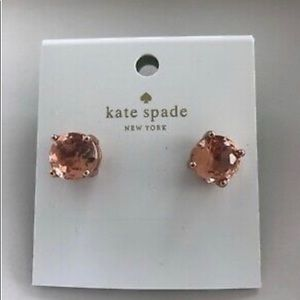 KATE SPADE STUD LIGHT PEACH EARRINGS (NWOT)